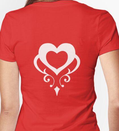 Sailor Moon - Teletia S Shirt (White Heart) Womens Fitted T-Shirt