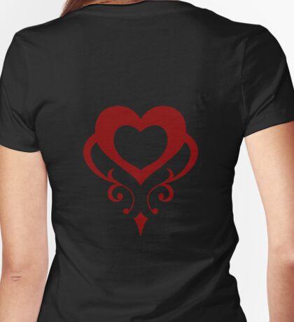 Sailor Moon - Teletia S Shirt (Crimson Heart) Womens Fitted T-Shirt