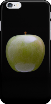 Granny Smith Apple (on black) for the Apple iPhone Cover! by Bryan Freeman