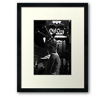 street,person Framed Print