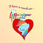 I have a crush on... Rainbow Dash by Stinkehund
