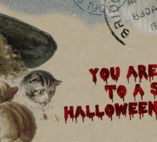 Halloween Tea Party Invitation Sticker