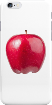 Red Apple (on white) for the Apple iPhone Cover! by Bryan Freeman