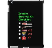 Zombie Survival Kit Checklist iPad Case/Skin