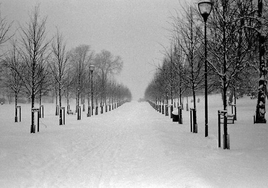 Snow alley by JuliaPaa