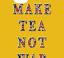 Make Tea Not War iPhone Case by simpsonvisuals