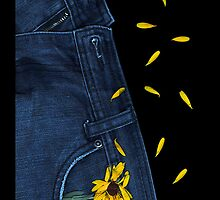 """Blue Jeans and Calendula"" - phone by Michelle Lee Willsmore"