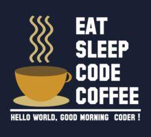 Programmer: eat sleep code coffee - hello world - light by dmcloth