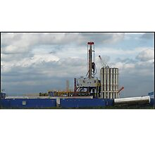 Shale gas Rig Photographic Print