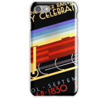 Liverpool Manchester Railway Vintage Poster iPhone Case/Skin
