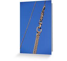 Hanged Crane Steel Chain Greeting Card