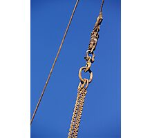 Hanged Crane Steel Chain Photographic Print