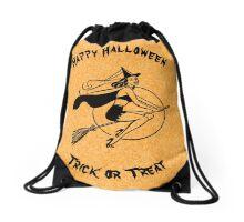 Halloween witch. Trick or treat bag Drawstring Bag
