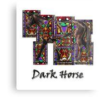 Walking Horse 2 Dark Horse Metal Print