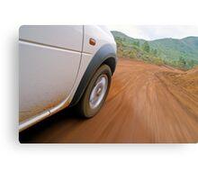 New Caledonia, Grand Terre Island, car on road (blurred motion) Metal Print