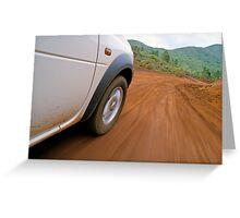 New Caledonia, Grand Terre Island, car on road (blurred motion) Greeting Card
