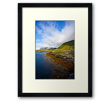 """5 ★★★★★ . Landscape from heaven. Lofoten.Gimsoystaumen Bridge. Norway. by Brown Sugar. Views (410).  thank you ! has been featured in """"Boats, Beaches, Bays!"""" Framed Print"""