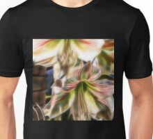 abstract amaryllis in a garden Unisex T-Shirt