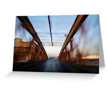 Road bridge (blurred motion) Greeting Card