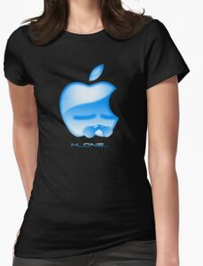 Apple I-Lone Blue Womens Fitted T-Shirt