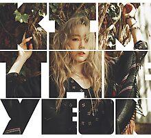 Kim Taeyeon 'I' Typography 4 Photographic Print