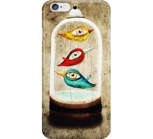 Birds in a cage iPhone Case/Skin