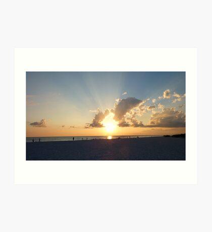 Florida Beach Sunset Art Print