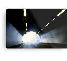 Traffic in road tunnel (blurred motion) Metal Print