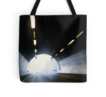 Traffic in road tunnel (blurred motion) Tote Bag