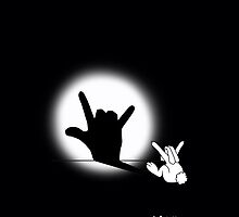 Rabbit Love Hand Shadow by mobii