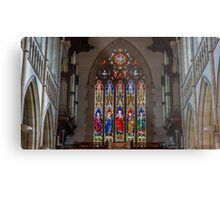 Stained Glass at the Sacred Heart Cathedral - Bendigo, Victoria Metal Print