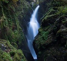 Aira Force Waterfall, Lake District - Cumbria by Simon Hills