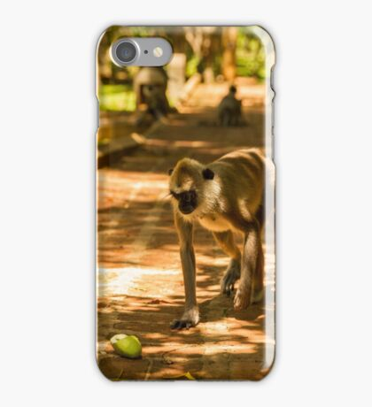 Monkey in the Way iPhone Case/Skin