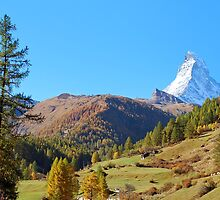 Matterhorn in October sun by Arie Koene