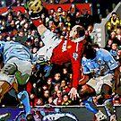 Wayne Rooneys overhead kick by db Artstudio by Deborah Boyle