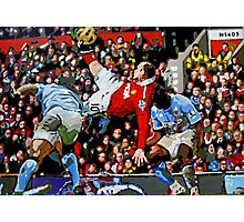 Wayne Rooneys overhead kick by db Artstudio Photographic Print