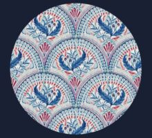 Art Deco Fresco in Cool Mediterranean Blue and Red Kids Clothes