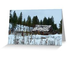Dilapidated Barn..Between Ritter and Bates Oregon Greeting Card