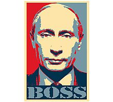 Vladimir Putin, obama poster, boss Photographic Print