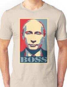 Vladimir Putin, obama poster, boss Unisex T-Shirt