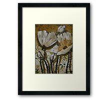 White Poppy Fiasco Framed Print