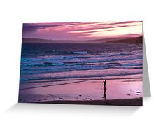 beach on sunset Greeting Card