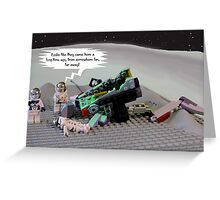 Once upon a time in space ... Greeting Card