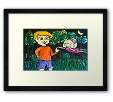 A Chat with a Fairy Framed Print