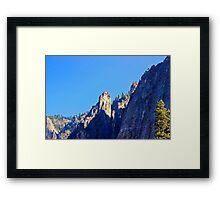 Cathedral Peaks-Yosemite Framed Print