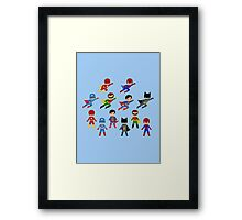 Superhero Cards Framed Print