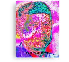 """JFK """"TAX RICH"""" Canvas Print"""