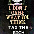 "I DON'T CARE GORILLA ""TAX RICH"" by Stephen Peace"