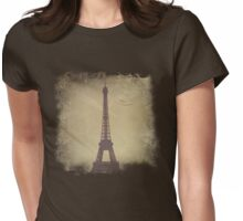 Vintage Eiffel Tower Womens Fitted T-Shirt