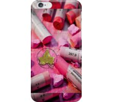 Ivy Circle with Photo Background 1 iPhone Case/Skin
